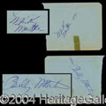Autographs, Mickey Mantle Signed Album Page c.1951