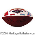 Autographs, Joe Montana Signed Hand Painted Football