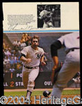 Autographs, Thurman Munson Signed Yankee Book Page