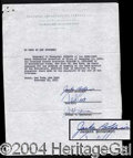 Autographs, Jackie Robinson Rare Signed Document