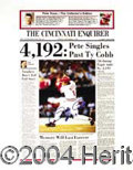 Autographs, Pete Rose Signed 4192 Comm. Poster Print