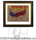 Autographs, Nolan Ryan Signed Lithographic Print