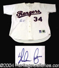 Autographs, Nolan Ryan Signed Game Model Jersey
