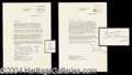 Autographs, Gene Tunney Signed Letter Lot (2)