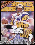 Autographs, Kurt Warner Signed October 1999 SI Magazine