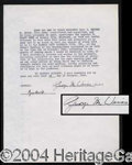 Autographs, George Weiss Typed Letter Signed