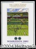 Autographs, Serena Williams Signed 2002 Wimbeldon Program