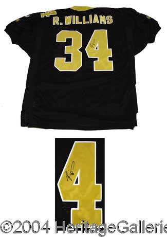 3ea6c8443 Ricky Williams Signed Saints Jersey Autographs