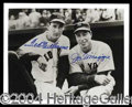 Autographs, Ted Williams & Joe DiMaggio Dual Signed Photograph