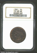 Proof Large Cents: , 1841 1C PR 65 Red and Brown NGC. ...