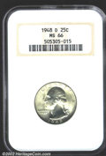 """Washington Quarters: , 1948-D 25C MS66 NGC. The latest Coin World """"Trends"""" price is ..."""