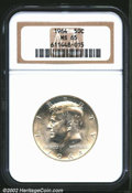 "Kennedy Half Dollars: , 1964 50C MS65 NGC. The latest Coin World ""Trends"" price is $..."