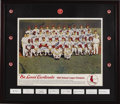 Autographs:Photos, 1968 St. Louis Cardinals Team Signed Poster. Enormous color imageof the National League Champs bears the blue sharpie sign...