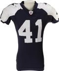 Football Collectibles:Uniforms, 2006 Terence Newman Game Worn Throwback Uniform. The 2003 first round draft pick out of Kansas State has proven to be a sol...
