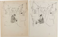 "Original Comic Art:Miscellaneous, Don Martin - Mad #63 ""The Pickpocket"" Gag Preliminary SketchOriginal Art, Group of 6 (EC, 1961). ... (Total: 6)"