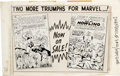 Original Comic Art:Miscellaneous, Daredevil #3 - Marvel House Ad Production Piece featuring Avengers#7 and Sgt. Fury #9 (Marvel, 1964)....