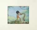 "Animation Art:Production Cel, ""Jungle Book"" Animation Production Cel and Background Original Art(Walt Disney, 1967)...."