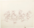 "Animation Art:Production Drawing, ""Mickey Mouse Club"" Opening Sequence Animation Production Drawing Original Art (Disney, 1952)...."