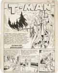 Original Comic Art:Panel Pages, Edmond Good (attributed) - T-Man, Title Page 1 Original Art(Quality, circa 1952)....