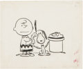 Original Comic Art:Covers, Charles Schulz - Charlie Brown and Snoopy Illustration Original Art (Holt, Rinehart, and Winston, 1965)....