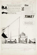 """Original Comic Art:Complete Story, Carmine Infantino and Sid Green - The Brave and the Bold #48,Complete 11-page Story """"The Man Who Drove Through Time"""" Original..."""