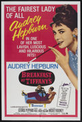 "Movie Posters:Romance, Breakfast At Tiffany's (Paramount, R-1965). One Sheet (27"" X 41"").Romance. Starring Audrey Hepburn, George Peppard, Patrici..."