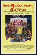 "Movie Posters:War, The Deer Hunter (Universal, 1978). One Sheet (27"" X 41"") AcademyAwards Style. Drama. Starring Robert De Niro, John Cazale, ..."
