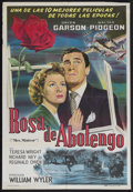 "Movie Posters:Academy Award Winner, Mrs. Miniver (MGM, R-1940s). Argentinian One Sheet (29"" X 43""). WarDrama. Multiple Academy Award Winner, including Best Pic..."