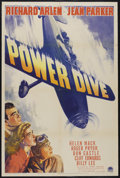 "Movie Posters:Drama, Power Dive (Paramount, 1941). One Sheet (27"" X 41""). Drama. Starring Richard Arlen, Don Castle, Jean Parker and Cliff Edward..."