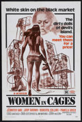 "Movie Posters:Sexploitation, Women in Cages (New World Pictures, 1971). One Sheet (27"" X 41"").Sexploitation. Starring Pam Grier, Judy Brown, Roberta Col..."