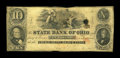 Obsoletes By State:Ohio, Eaton, OH- State Bank of Ohio $10 G696 Wolka 1066-32. A scarce notelisted as SENC in Haxby and as Rarity 5 in Wolka. Very...