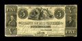 Obsoletes By State:Wisconsin, Milwaukee, WI- Bank of Milwaukee $5 G8. A very scarce early Wisconsin issue which comes as a remainder only. This piece is...