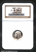 Proof Roosevelt Dimes: , 1957 10C PR 69 Cameo NGC. ...