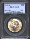 "Kennedy Half Dollars: , 1969-D 50C MS65 PCGS. The latest Coin World ""Trends"" price ..."