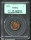 """Proof Indian Cents: , 1878 1C PR 65 Red PCGS. The latest Coin World """"Trends"""" price ..."""