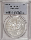 Modern Issues: , 2007-P $1 Jamestown MS70 PCGS. PCGS Population (483/0). Numismedia Wsl. Price for NGC/PCGS coin in MS70...