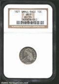 """Bust Dimes: , 1821 10C Small Date AU55 NGC. The latest Coin World """"Trends"""" ..."""