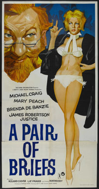 "A Pair of Briefs (Rank, 1963). British Three Sheet (40"" X 78""). Comedy"