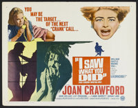 """I Saw What You Did and I Know Who You Are! (Universal, 1965). Half Sheet (22"""" X 28""""). Horror"""