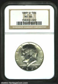 "Kennedy Half Dollars: , 1969-D 50C MS66 NGC. The latest Coin World ""Trends"" price is ..."