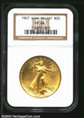 Proof High Relief Double Eagles: , 1907 $20 HighRelief PR 64 NGC. ...