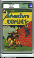 Golden Age (1938-1955):Superhero, Adventure Comics #56 (DC, 1940) CGC Qualified VF+ 8.5 Off-white to white pages. Qualification: Staples cleaned. Bailey, Sieg...