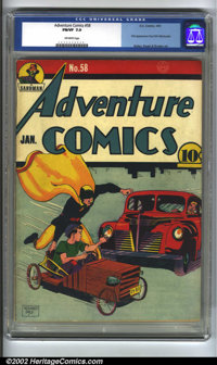 Adventure Comics #58 (DC, 1941) CGC FN/VF 7.0 Off-white pages. First appearance Paul Kirk Manhunter. Bailey, Siegel and...