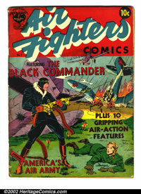 Air Fighters Comics #1 (Hillman Fall, 1941) Apparent GD+. Glue on spine and color touch. Overstreet 2002 GD 2.0 value =...