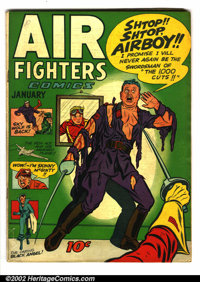 Air Fighters Comics Lot of 5 (Hillman Fall, 1943). Five cool issues average VG- (except Vol. 2 #8 is GD.). Vol. 1 #7, Vo...