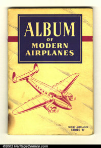 Album of Modern Airplanes #1 (Brown and Williamson, 1950s). This album is full of Wings Cigarette trading cards depictin...