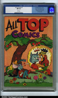 Golden Age (1938-1955):Superhero, All Top Comics #1 Mile High pedigree (Fox Features Syndicate, 1945). CGC NM 9.4 White pages. First appearance of Cosmo Cat a...