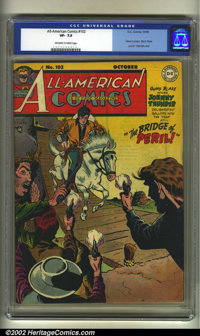 All-American Comics #102 (DC, 1948). CGC VF- 7.5 Off-white to white pages. Scarce final issue; Green Lantern, Black Pira...