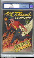 Golden Age (1938-1955):Superhero, All-Flash #1 (DC, 1941). CGC VF- 7.5 Off-white to white pages. Origin of the Flash retold, first solo Golden Age Flash title...
