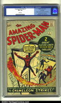 Silver Age (1956-1969):Superhero, The Amazing Spider-Man #1 Winnipeg pedigree (Marvel, 1963) CGC VF+8.5 White pages. Offered here is a really incredible, ped...